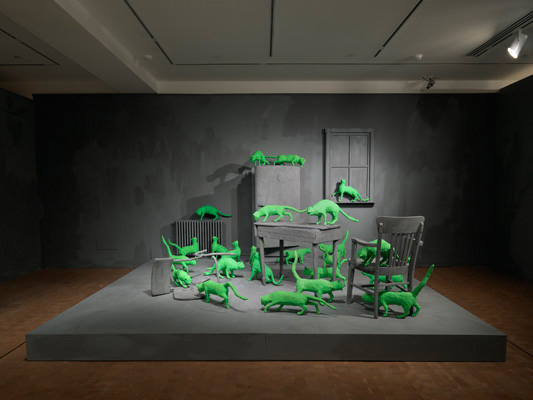 Sandy Skoglund installation, Smith College Museum of Art