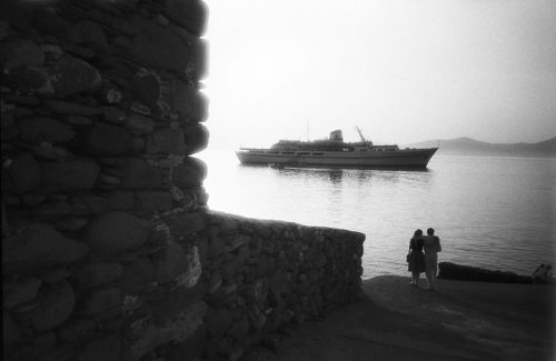 "Tourists And Ship, Mykonos, Greece Archival Inkjet Print 17 X 22"", Edition Of 25 (other Sizes Available)"